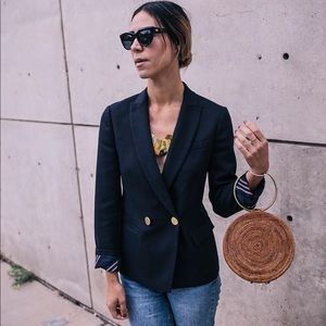 J.Crew Navy Blazer with gold buttons